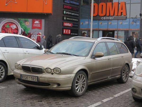 Jaguar на литовських бляхах вразив кузовом