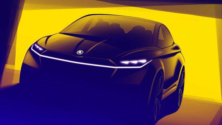 Електричну новинку Skoda Vision iV засвітили на ескізах