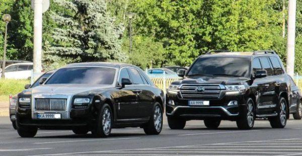 В Україні помітили крутий кортеж автомобілів з номерами «9999»