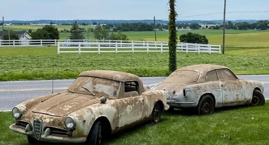 В заброшенном гараже обнаружили забытые на 40 лет раритетные Alfa Romeo (ФОТО)